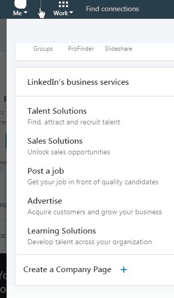 create linkedin company page